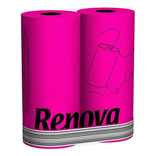 Renova Fucsia Kitchen Roll - Funky Pink 2 Roll Standard Pack