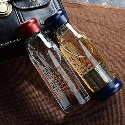 Glass Juice Bottles With Lids Glass Water Bottle With Tea Infuser My Drink 550Ml Whey Protein Shaker Sports Bottle Travel Bottles Tea Mugs