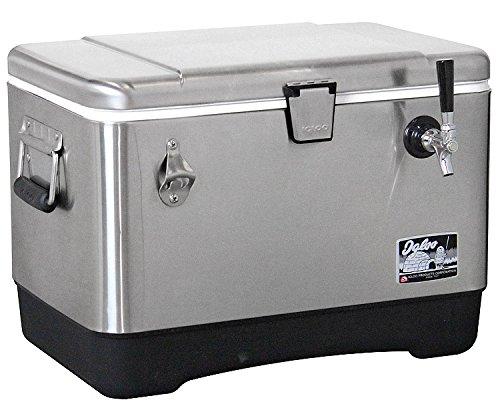 Kegco Single Faucet Jockey Box Beer Cooler Dispenser 38 OD 120 SS Coil