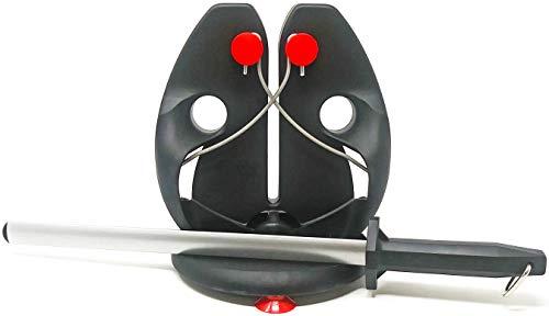F Dick Rapid Steel Action Set With Bonus Diammark 12 Oval Sharpener - Includes Rapid Steel Pull-Thru Sharpener Improved Base and Diammark Brand Diamond Sharpener - Mad Cow Cutlery Exclusive Deal