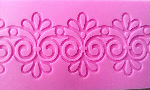 Design 607 Sugar Lace Silicone Pad 3D Fondant Silicone Mold Cake decoration mold Cake Decoration Tool