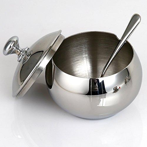 European creative stainless steel spice box kitchen supplies Spice jar salt shaker three-piece suit-A