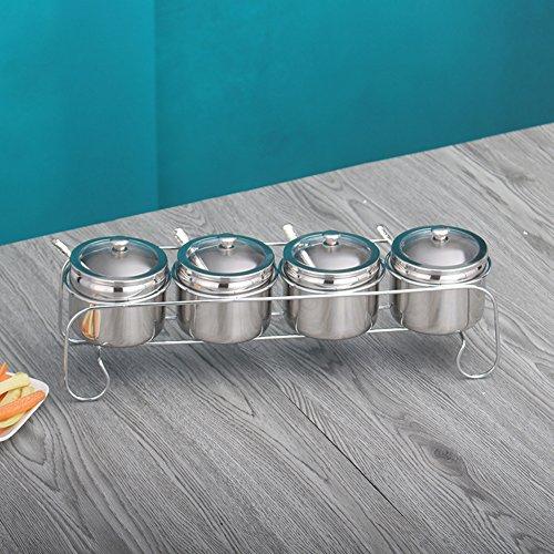 Kitchen Spice jar jarStainless steel spice box Oiler seasoning box set salt shaker set of three or four-B