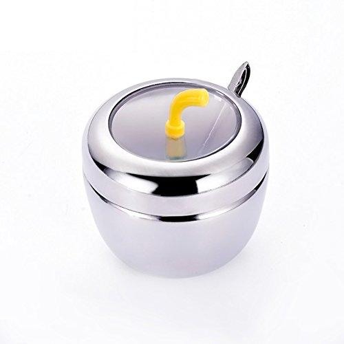 Spice jarStainless steel spice box seasoning box seasoning jarsKitchen seasoning bottles salt shaker sauce bottle-A