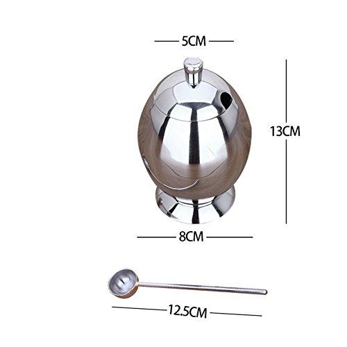 Stainless steel spice boxMulti purpose Spice jar salt shaker set European-style kitchen-C
