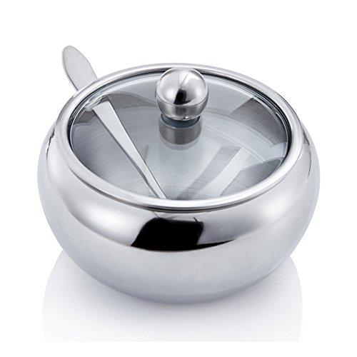 Stainless steel spice box Spice jarEuropean creative spice jars salt shaker set kitchen supplies-A