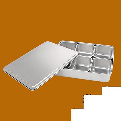 magazine style creative kitchen spice boxStainless steel spice box set-N