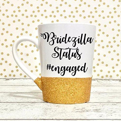 Bridezilla Glitter Coffee Mug Gift for Bride
