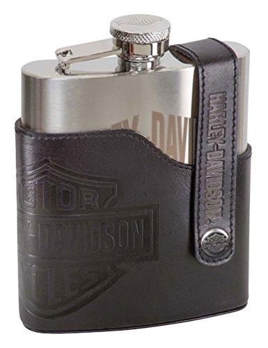 Harley-Davidson Bar Shield Laser Engraved Flask Stainless Steel HDL-18572