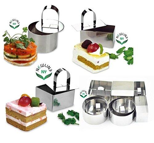 NewlineNY Stainless Steel Dessert Rings 12 Pcs Molding Layering Cake Cutter