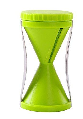 Spiralizer Vegetable Slicer - Zoodle Maker - 4 Blade Replaceable Vegetable Spiral Slicer Cutter Vegetable Spiralizer Grater Spiralizer For Carrot Cucumber Courgette - Veggie Spiralizer - Green