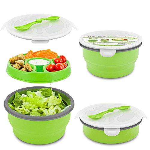 Smart Planet Eco Collapsible Salad Bowl 64 oz Green