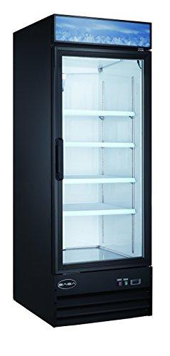 Single Glass Door Reach-In Freezer Merchandiser Display Case