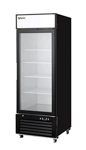 Vortex Refrigeration Commercial 1 Glass Door Merchandiser Freezer - Black - 23 Cu Ft