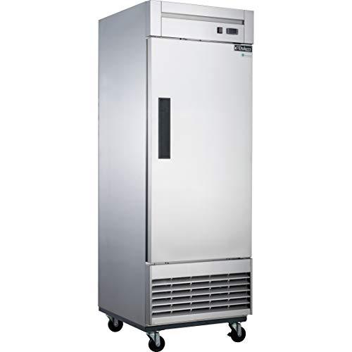 Dukers D28F 177 cu ft Single Door Commercial Freezer in Stainless Steel