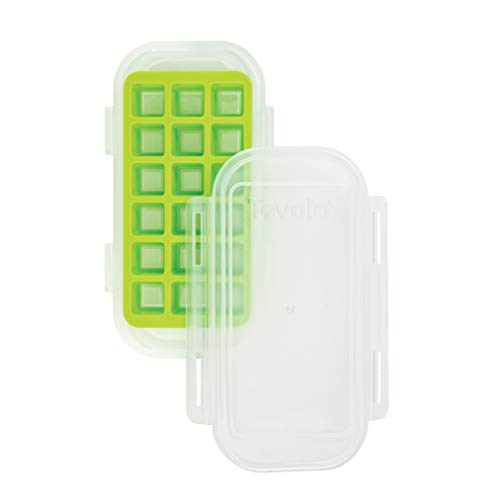 Tovolo 81-32705 Clove Storing Chopped Minced and Crushed Garlic Freezer Tray One Spring Green