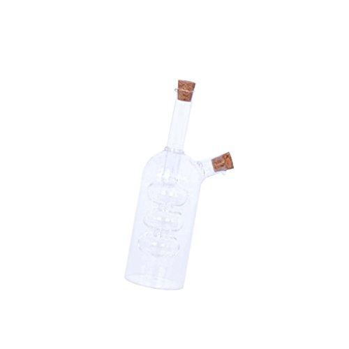 MagiDeal 2-Outlet Glass Olive Oil Jar Vinegar Bottle Pot Kitchen Sauce Dispenser - 1