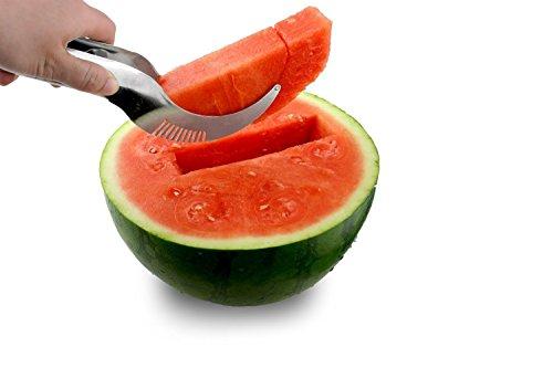 SHAREWIN Watermelon Slicer Corer Server Cutter Tongs for Melons More Expert Chef Premium Stainless Steel fruit slicer
