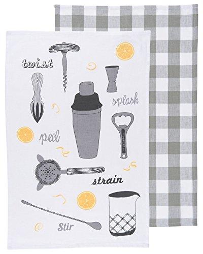 Now Designs Tea Towels Bar Tools Set of 2