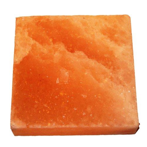 Natural Himalayan Salt Plate  Slab  Block Pink Square 7x7x2-Inch