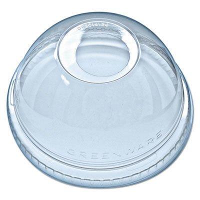 Fabri-Kal DLKC1624 Kal-Clear Plastic Dome Lids for Cups 1000  Case