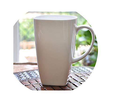 700Ml plain white bone china large tea mugs square porcelain cup mornin water tasse a cafe ceramic coffee cup