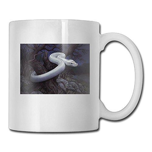 ACFUNEJRQ Outdoor Hazardous White Snake 11OZ Lovely Large Handle CoffeeTea Mug