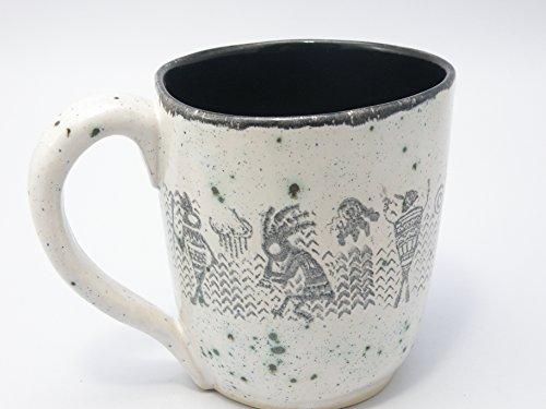 Dancing tribal Extra large tea mug beer mug 28 oz food safe Glaze STONEWARE huge mug