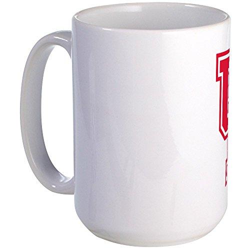 CafePress - Houston Logo Red - Coffee Mug Large 15 oz White Coffee Cup