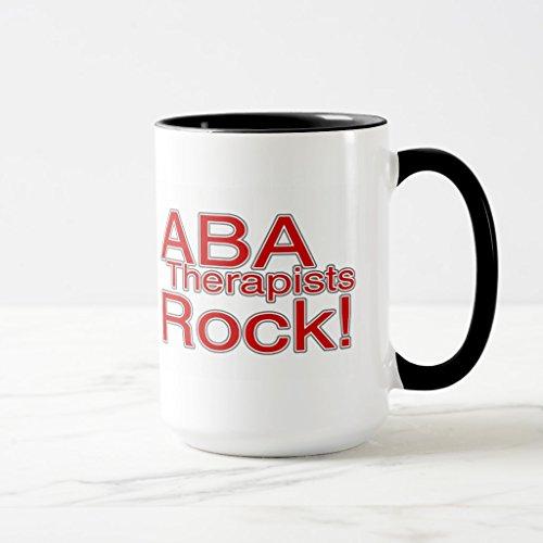 Zazzle Aba Therapists Rock red Coffee Mug Black Combo Mug 15 oz