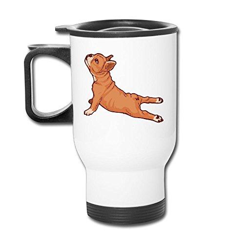 French Bulldog Yoga Custom Beautiful Coffee Mug Travel Thermos Blank Mug Business Mugs