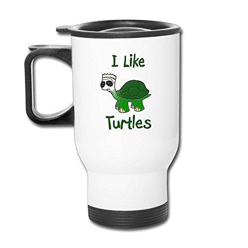 I Like Turtles Custom Beautiful Coffee Mug Travel Thermos Blank Mug Business Mugs