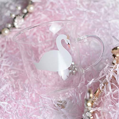 Fiesta Creative Killer Whale Glass Coffee Mug 350ml Cute Tea Mug Polar Bear Tea Cup Heat Resistant Glass Coffee Cup Beer Mug Crown Swan 370ml