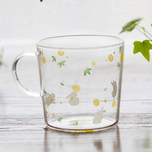 Fiesta Creative Killer Whale Glass Coffee Mug 350ml Cute Tea Mug Polar Bear Tea Cup Heat Resistant Glass Coffee Cup Beer Mug Floral Rabbit 300ml