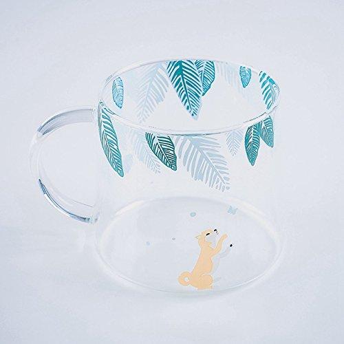 Fiesta Creative Killer Whale Glass Coffee Mug 350ml Cute Tea Mug Polar Bear Tea Cup Heat Resistant Glass Coffee Cup Beer Mug Shiba Inu 320ml