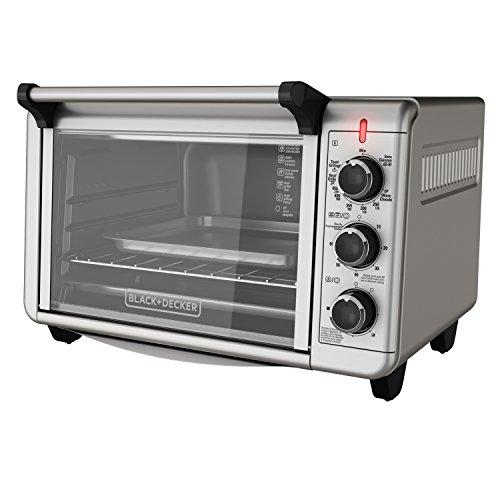 BlackDecker TO3210SSD 6-Slice Convection Countertop Toaster Oven Silver