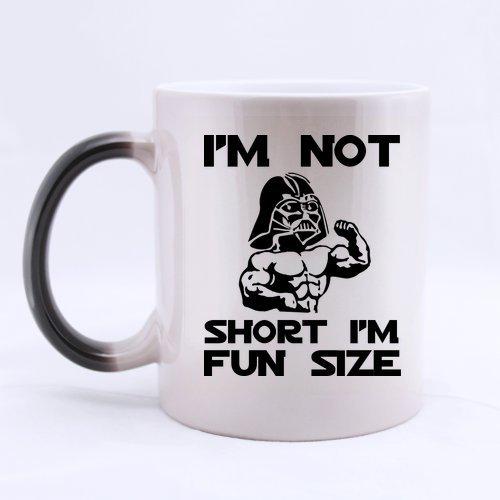 Funny IM NOT SHORT IM FUN SIZE Morphing Coffee Mug or Tea CupCeramic Material Mugs11oz