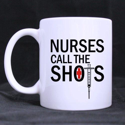 SCSF Gift Idea Motivation Nurses Call The Shorts Funny Quote Coffee Mug11 Ounce Ceramic White Mugs