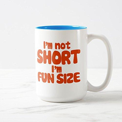 Zazzle Im Not Short Coffee Mug Light Blue Two-Tone Mug 15 oz