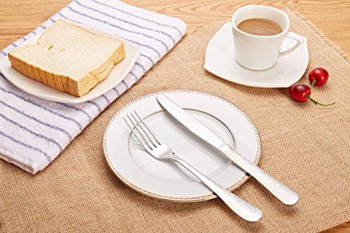 XD Elegant Pattern 410 Stainless Steel Dinner Set Pack of 12 2A813