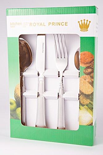 XD Elegant Pattern 410 Stainless Steel Dinner Set Pack of 16 4 A811