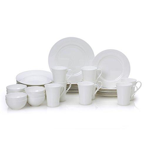 Mikasa Lucerne White 40-Piece Dinnerware Set Service for 8