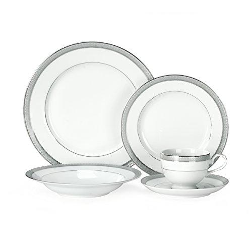 Mikasa Platinum Crown 40-Piece Dinnerware Set Service for 8