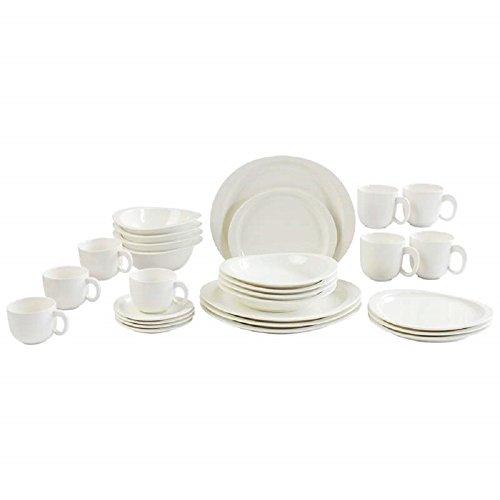 Nikita™ 28 Piece White Porcelain Dinnerware Set