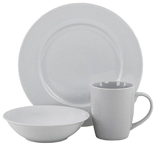 Oneida American Loft 12 PC White Porcelain Dinnerware Set