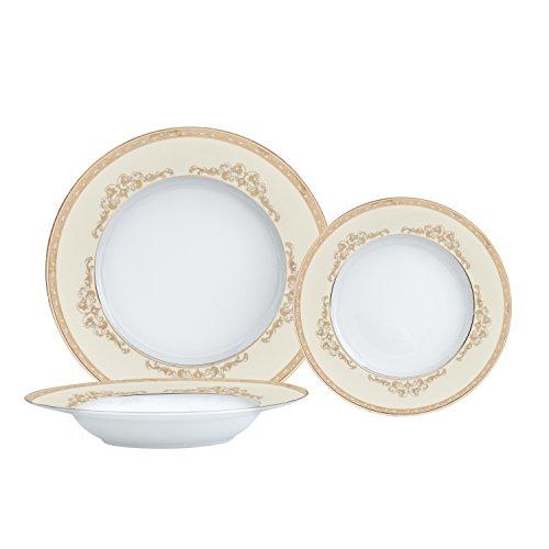 Brilliant - Majesty Gold 18 Piece Dinnerware Set Service for 6