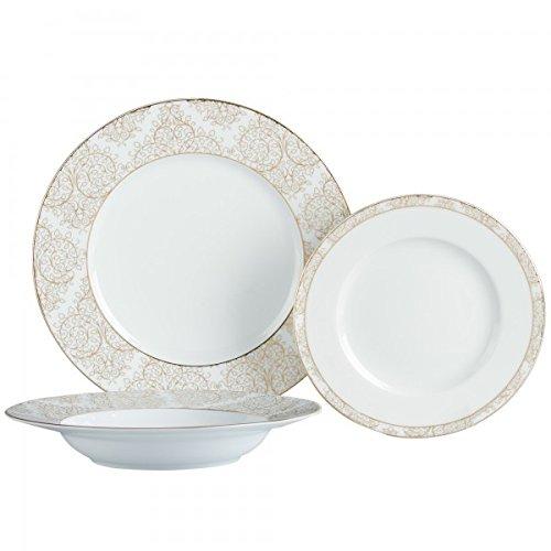 Brilliant - Ritz Gold Dinnerware and Serving Pieces 18 Piece Set