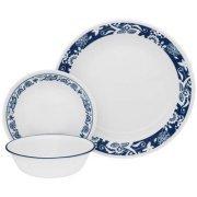 Corelle 16-Piece Livingware True Blue Dinnerware Set