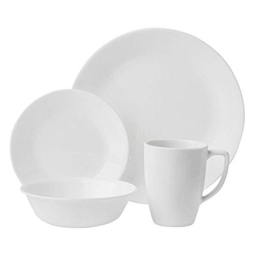 Corelle 6022003 Livingware™ White Winter Frost Dinnerware 16 Piece Set