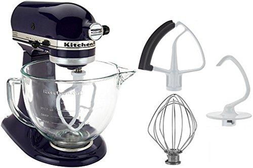 KitchenAid 5-Qt Tilt-Head Stand Mixer with Glass Bowl and Flex Edge Beater - Cobalt Blueï¾…